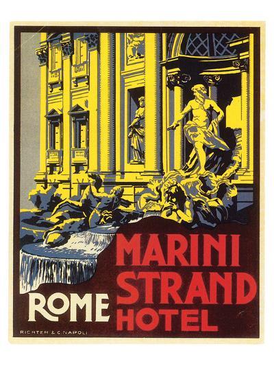 Marini Strand Hotel, Richter & Napoli--Art Print