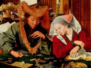 A Moneychanger and His Wife by Marinus Van Reymerswaele
