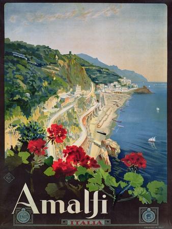 Poster Advertising the Amalfi Coast