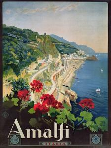 Poster Advertising the Amalfi Coast by Mario Borgoni