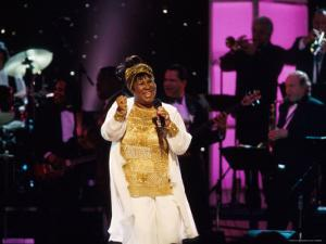 Singer Aretha Franklin Performing at Vh1 Divas Live by Marion Curtis