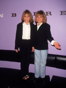 Twin Actresses Mary Kate and Ashley Olsen at the John Barrett Salon by Marion Curtis