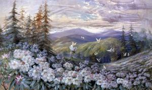 Rhododendrons and Butterflies by Marion Ellis Rowan