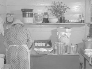 Cooking Biscuits by Marion Post Wolcott