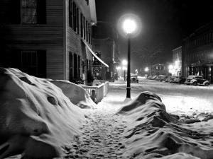Snowy Night, Woodstock, Vermont, 1940 by Marion Post Wolcott
