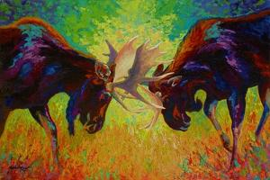 Just Sparring Moose by Marion Rose