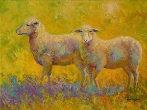Warm Glow Sheep Pair by Marion Rose