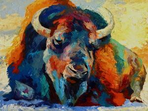Winter Bison by Marion Rose