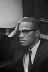 Malcolm X at MLK Press Conference, Washington DC, March, 1964 by Marion S. Trikosko