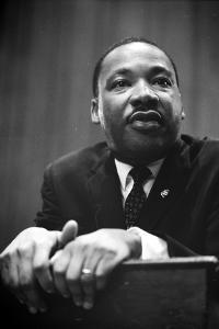 Martin Luther King at a press conference in Washington, D.C., 1964 by Marion S. Trikosko