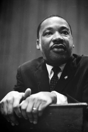 Martin Luther King at a press conference in Washington, D.C., 1964