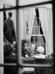 President Gerald Ford Working at His Desk, Washington, D.C., 1975 by Marion S. Trikosko