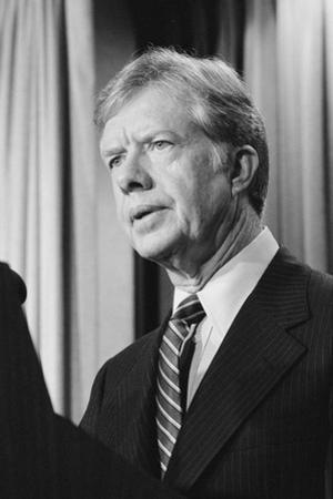 President Jimmy Carter announces sanctions against Iran in retaliation for taking US hostages, 1980
