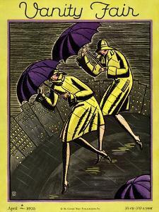 Vanity Fair Cover - April 1928 by Marion Wildman