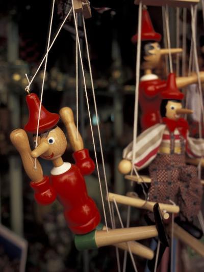Marionette, Pinocchio Puppet, Taormina, Sicily, Italy-Connie Ricca-Photographic Print
