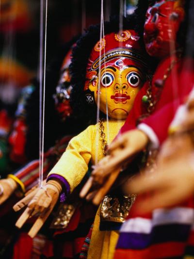 Marionettes of Hindu Deities Hanging Outside Shop, Kathmandu, Nepal-Ryan Fox-Photographic Print