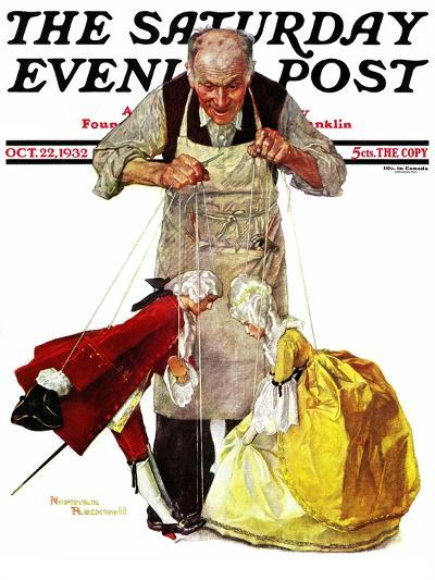 """""""Marionettes"""" Saturday Evening Post Cover, October 22,1932-Norman Rockwell-Giclee Print"""