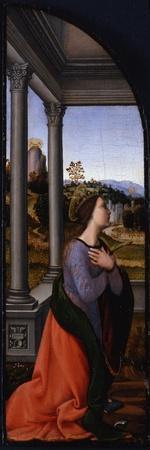 Triptych, Left-Hand Panel: Saint Catherine of Alexandria, 1500