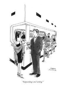 """""""Copywriting is too 'writing.'"""" - New Yorker Cartoon by Marisa Acocella Marchetto"""