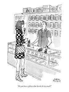 """""""Do you have a phone that doesn't do too much?"""" - New Yorker Cartoon by Marisa Acocella Marchetto"""