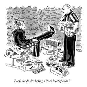 """""""I can't decide. I'm having a brand identity crisis."""" - New Yorker Cartoon by Marisa Acocella Marchetto"""