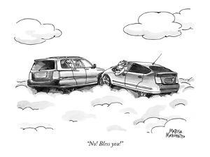 """""""No! Bless you!"""" - New Yorker Cartoon by Marisa Acocella Marchetto"""