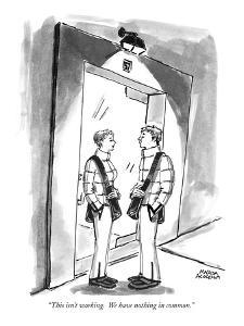 """""""This isn't working.  We have nothing in common."""" - New Yorker Cartoon by Marisa Acocella Marchetto"""