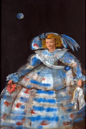 Menina with Blue Moon