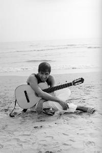 Adriano Celentano on the Sea Shore by Marisa Rastellini