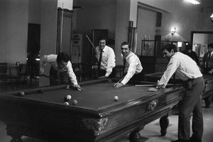 Four Friends Playing Billiards by Marisa Rastellini