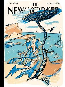 The New Yorker Cover - August 4, 2003 by Mariscal