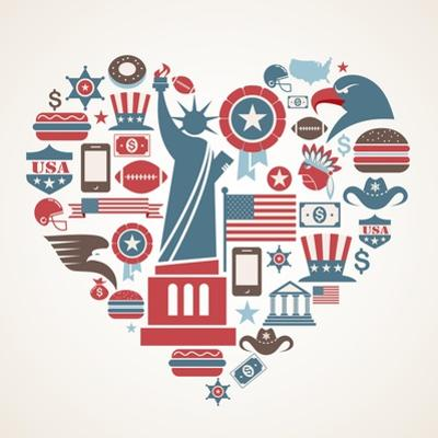America Love - Heart by Marish
