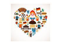 South America Love-Marish-Art Print