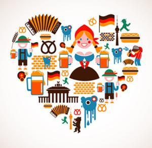 Heart Shape With Germany Icons by Marish