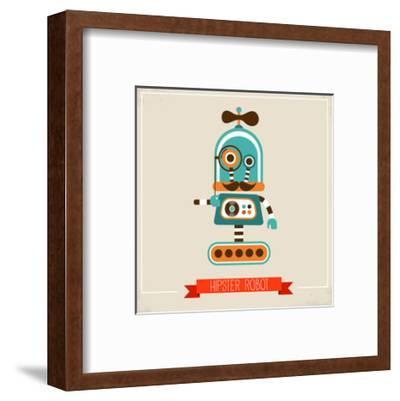 Hipster Robot Toy Icon And Illustration