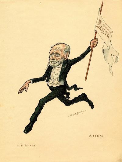 Marius Petipa (From: Russian Ballet in Caricature), 1902-1905-Nikolai Gustavovich Legat-Giclee Print