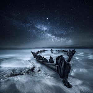 Shipwreck Below the Stars, Glenbeigh, County Kerry, Munster, Ireland by Mariuskasteckas