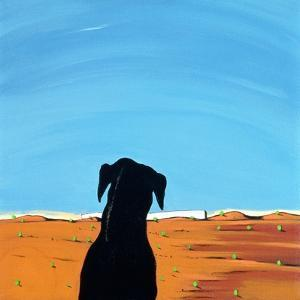 Black Dog in Chestertown, 1998 by Marjorie Weiss