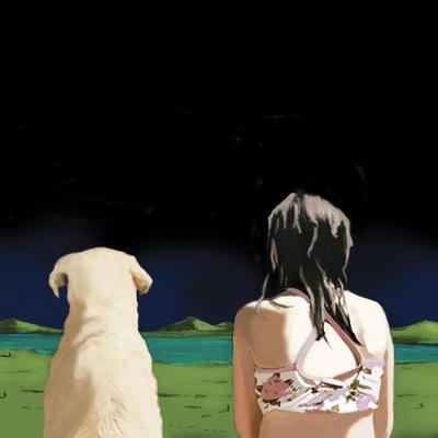 Girl and Yellow Lab, 2008