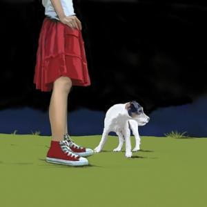 Girl in Red Skirt, 2008 by Marjorie Weiss