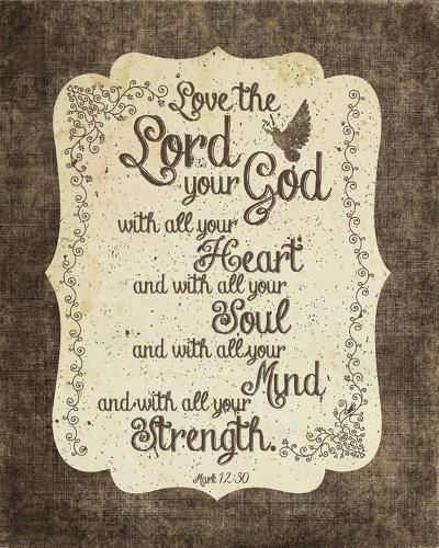 Mark 12:30 Love the Lord Your God (Bird)-Inspire Me-Art Print