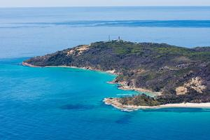 Aerial photograph of Moreton Island, Queensland, Australia by Mark A Johnson