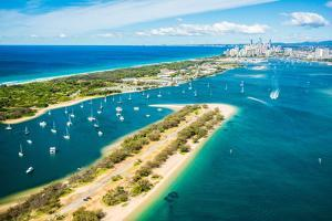 Aerial photograph of The Spit & the Broadwater, Gold Coast, Queensland, Australia by Mark A Johnson