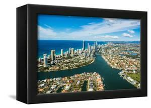 Aerial photograph of the Surfers Paradise skyline, Gold Coast, Queensland, Australia by Mark A Johnson