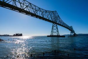 Astoria-Megler Bridge over the Columbia River, Astoria, Oregon by Mark A Johnson