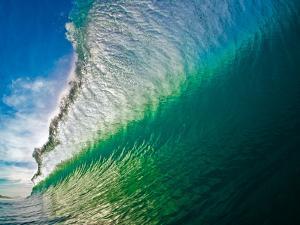 Breaking ocean wave, Baja California Sur, Mexico by Mark A Johnson