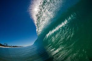 Breaking wave, Gold Coast, Queensland, Australia by Mark A Johnson