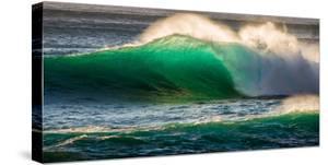 Giant storm surf, Oahu, Hawaii by Mark A Johnson