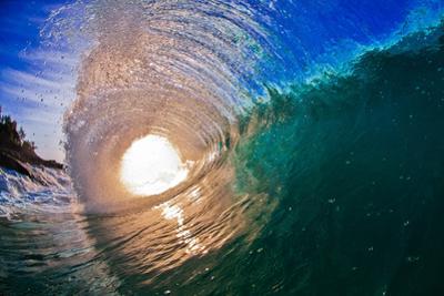 Light Burst-Wave breaking off N. Stradbroke Island, Queensland, Australia by Mark A Johnson