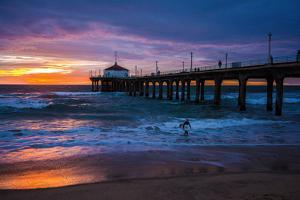 Manhattan Beach Pier, Manhattan Beach, Los Angeles, California, USA by Mark A Johnson
